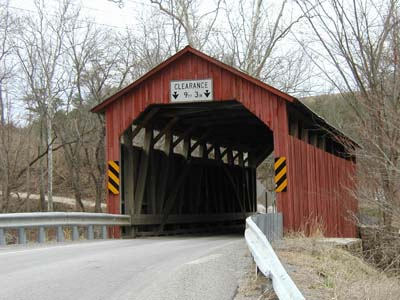Covered bridge in Pennsylvania.