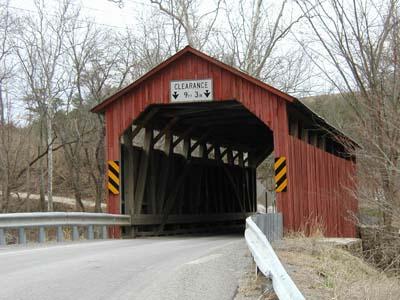 Covered bridge in Pennsylvania.