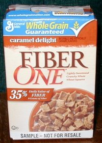 Fiber One cereal box.
