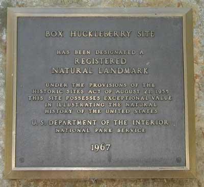 Natural Area Register Plaque on Monolith