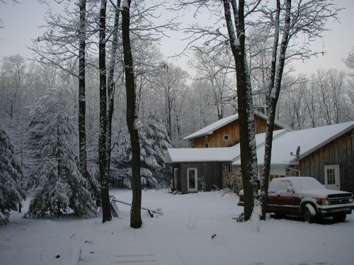 Happy New Year! From our mountain home in the woods.