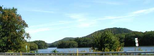 The Susquehanna River as viewed from across Routes 11/15 at Weaver's Farm Market.