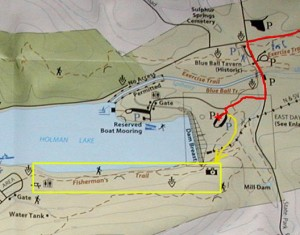 Map of Fisherman's Trail at Little Buffalo State Park, Newport PA