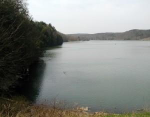 View from the dam of Lake Holman, Little Buffalo State Park, Pennsylvania