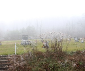 Foggy Mountain Top at the Old Cemetery
